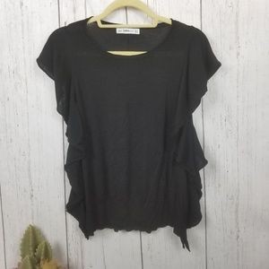 Zara Knit black top size Large